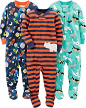 Simple Joys by Carter's Baby and Toddler Boys' 3-Pack Snug Fit Footed Cotton Pajamas