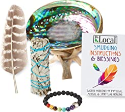 JL Local White Sage Smudging Kit Smudge Stick Gift Kit + Instructions & Blessings (Beginner`s Kit)