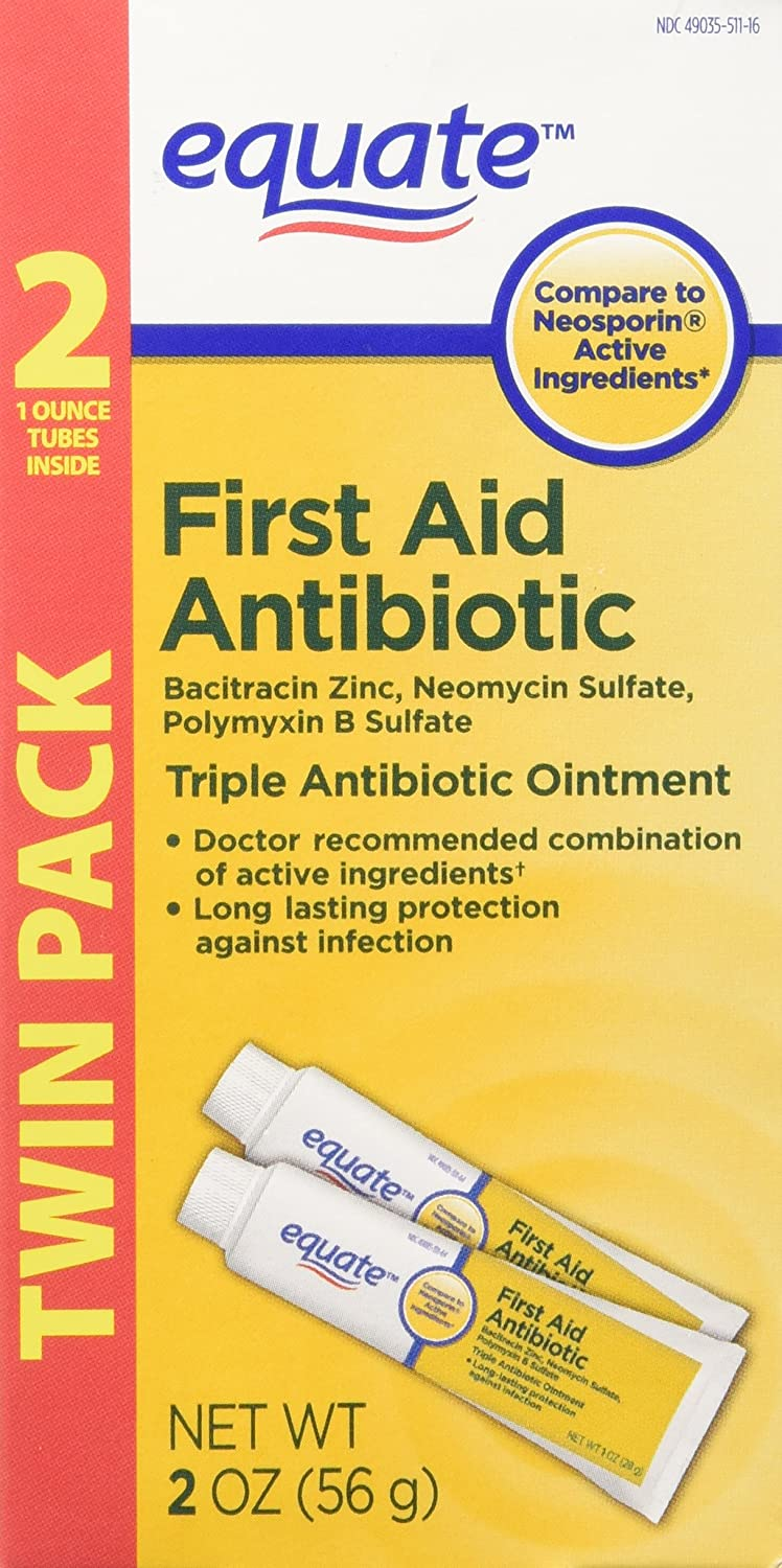 Equate Triple Mail order Antibiotic First Aid Ointment Ranking integrated 1st place Ne to oz. 1 Compare