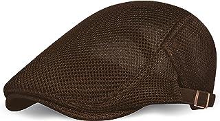 BABEYOND قبعة مسطحة شبكية للرجال قابلة للتنفس الصيف نيوزبوي قبعة بيريه كابينة ايفي غاتسبي نيوزبوي قبعة للقيادة والصيد