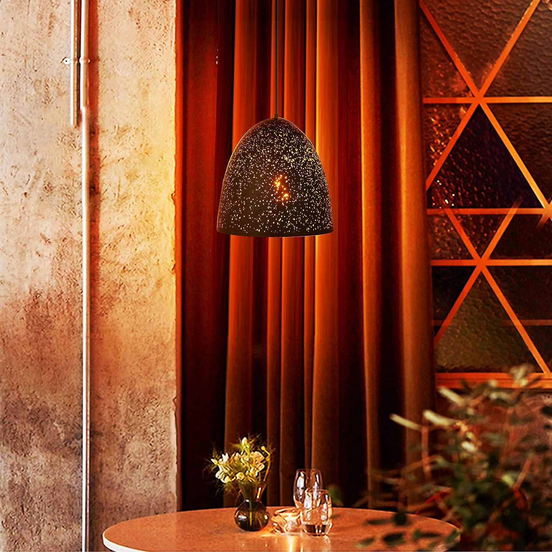 SISVIV Luz de Colgante Industrial Retro L/ámpara de Colgante R/ústico Negro para Cocina Comedor Cafeter/ía Restaurante