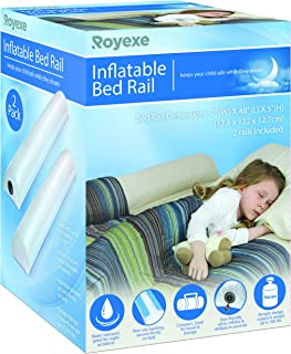 Inflatable Travel Bed Rails for Toddlers. Portable Bed Rail Bumper. Kids Safety Guard for Bed. Great for Home, Hotel, Travel. (2 Count)