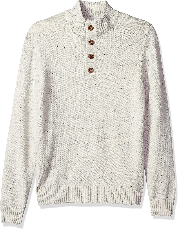 IZOD Men's Ultra-Cheap Deals Buttoned Mock Neck Solid Gauge Sweater Max 61% OFF 7