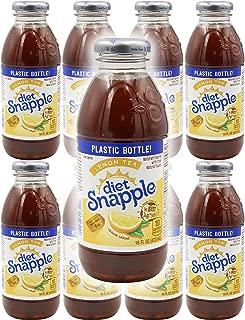 Snapple Diet Lemon Iced Tea, 16oz Bottle (Pack of 8, Total of 128 Fl Oz)