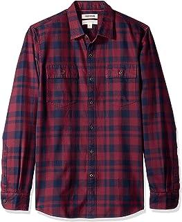 Goodthreads Amazon Brand Men's Slim-Fit Long-Sleeve Plaid Twill Shirt