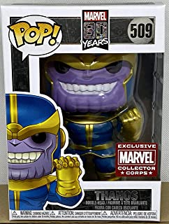Funko Pop Exclusive Marvel Collector Corps 80th  Thanos Classic Comic Exclusive