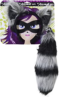Forum Novelties Women's Playful Animals Raccoon Costume Accessory Set, Raccoon, One size