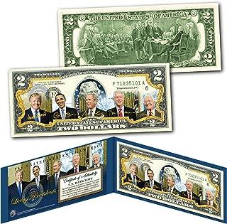 LIVING PRESIDENTS including DONALD TRUMP Genuine Legal Tender $2 U.S. Bill w/COA