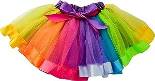 Little Girls Unicorn Rainbow Tutu Layered Ballet Tulle Skirt w/Underskirt