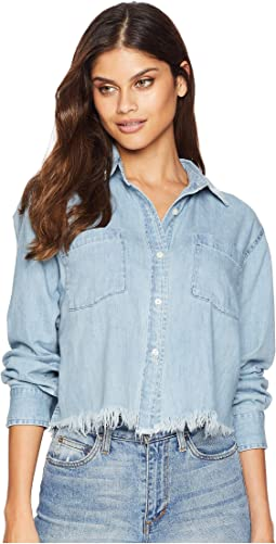 Soft Woven Chambray Embroidered Shirt
