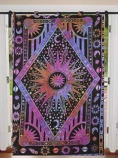 Tye – Juego de cortinas colgantes de pared de doble tamaño 125 cm x 208 cm con diseño de mandala para colgar en la puerta, cortina, cortina, cortina, cortina, cortina, diseño de mandala