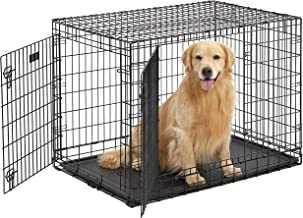 Ultima Pro (Professional Series & Most Durable MidWest Dog Crate) Extra-Strong Double Door Folding Metal Dog Crate w/ Divi...