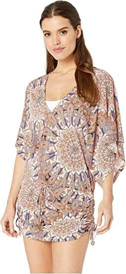 La Reina Del Sur Cabana V-Neck Dress Cover-Up