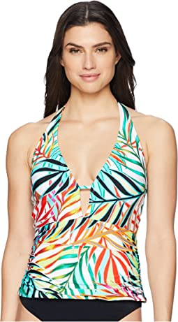 Exotic Palm Plunge Tankini