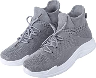 Cassiey ™ Girls Latest Comfortable and Lightweight Walking Shoes, Sports Shoes, Sports Shoes, Casual Shoes (Grey)