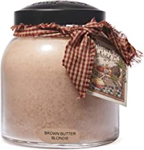 A Cheerful Giver Brown Butter Blondie 34 oz Papa Jar Candle, Tan