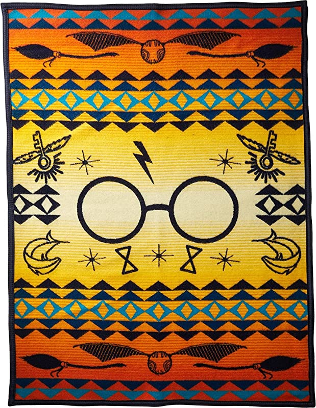 Pendleton Unisex Harry Potter Harry S Journey Jacquard Blanket Kids Orange One Size