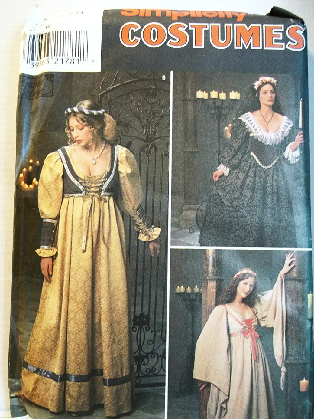 OOP Simplicity Pattern 8192. Misses Sizes 10;12;14 Renaissance Costumes. fthkoh8445