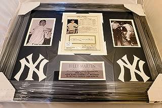 Billy Martin Signed/Auographed 8x10 Framed Display Yankees Legend.JSA COA