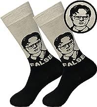 Balanced Co. Dwight Schrute False Dress Socks Rainn Wilson Funny Socks Crazy Socks Casual Cotton Crew Socks