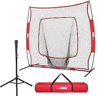تمرین VIVOHOME 7 اینچ x 7 اینچ بیس بال سافت بال تمرین با Strike Zone Tie Te و حمل کیف برای حمام زدن و قلاب زدن