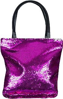 mygoodtime Pailletten Tasche Handtasche Damen Shopper Einkaufs-Strandtasche Metallic Glitzer