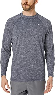 Nike Mens NESS7504 UPF 40+ Long Sleeve Rashguard Swim Tee Long Sleeve T-Shirt