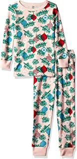 Girls' Big 2-Piece Tight Fit Sleeve Long Bottoms Pajama Set
