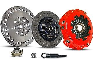 Clutch And Flywheel Kit Works With Subaru Impreza Baja Forester 9-2X Turbo Xt Aero WRX Crew Cab Limited Wagon Sedan 2.0L 2.5L H4 GAS DOHC Turbocharged (Stage 1)