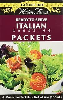 Walden Farms Italian Salad Dressing Packets - Six 1 oz. packets per box