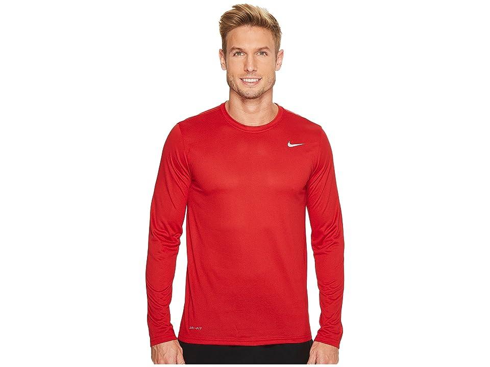 Nike Legend 2.0 Long Sleeve Tee (Gym Red/Matte Silver) Men