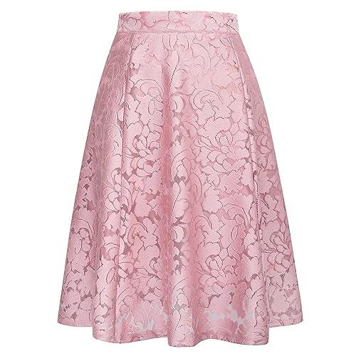 d8edfa15e5 GRACE KARIN Women Floral Skirt High Waisted A Line Knee Length Skirts  CLAF0236