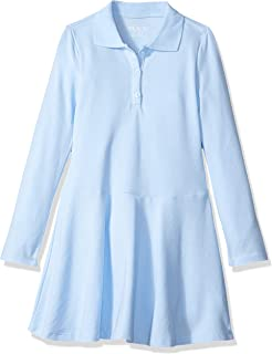 The Children's Place Big Girls' Long Sleeve Polo Dress