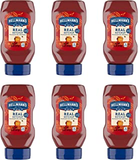 Hellmann's Real Ketchup Sweetened Only with Honey 14 oz, Pack of 6