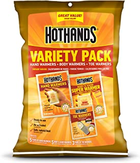 HotHands Toe, Hand, & Body Warmer Variety Pack - Long Lasting Safe Natural Odorless Air Activated Warmers