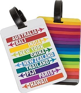 Travelon - Juego de dos etiquetas para equipaje, Variados, Una talla