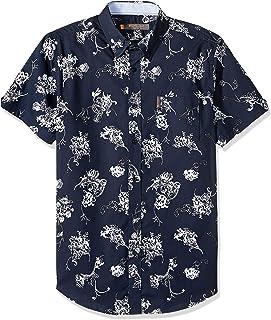 Ben Sherman Men's Ss Trop Florl PRNT Shirt