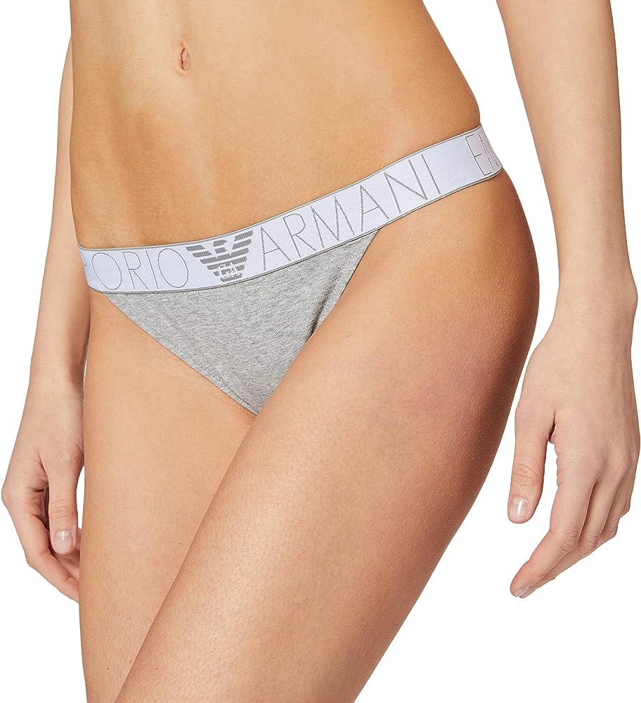 Emporio armani underwear thong iconic logoband perizoma per donna 163759 1P227 00948