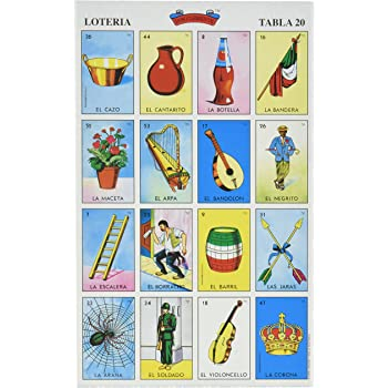Don Clemente Autentica Loteria Mexican Bingo Set 20 Tablets Colorful and Educational
