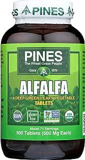 PINES Organic Alfalfa, 500 Count Tablets