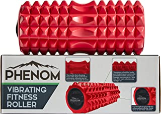 Monument Phenom 3 Speed Vibrating Foam Roller - Myofascial Recovery | Release Tension, Stiff Sore Muscles; Enhance Mobility, Performance, and Pliability Training High-Density Deep Tissue Massage (Red)
