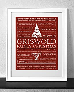 Customized Christmas Vacation Quotes Art Print Frame Not Included