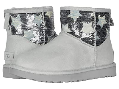 UGG Classic Mini Sequin Stars (Grey Violet) Women
