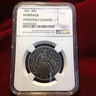 1861 Sitting Liberty Half Dollar 50 cents VF Details NGC