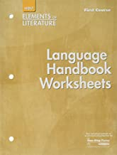 Elements of Literature: Language Handbook Worksheets Grade 7 First Course