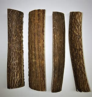 Extra Small 4 Pack (Splits) All Natural Premium Grade A. Elk Antler Chew. Naturally Shed, Hand-Picked, and Made in The USA. NO Odor, NO Mess. GUARENTEED SATISIFACTION. for Dogs 10-20 lbs