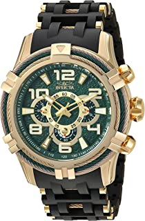 Men's Bolt Quartz Watch with Stainless-Steel Strap, Black, 25.75 (Model: 25557)