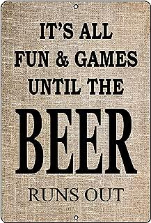 Rogue River Tactical Funny Sarcastic Metal Tin Sign Wall Decor Man Cave Bar Beer Drinking Drunk (Beer)