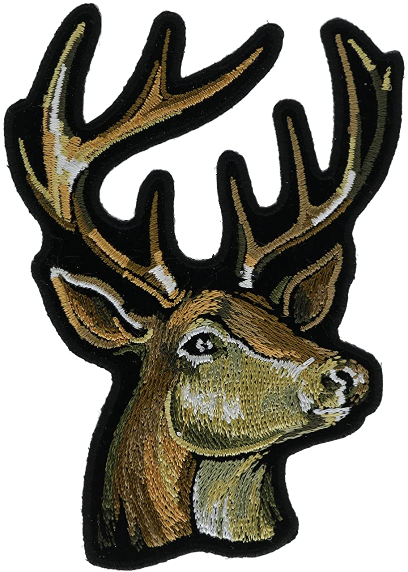 Big Buck Deer 4 inch Embroidered Patch NOVPA8960