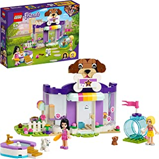 LEGO 41691 Friends Doggy Day Care Playset, Emma's Dog Grooming and Puppy Playground